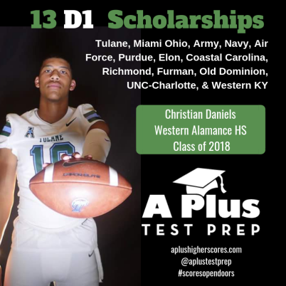 Copy of Christian Daniels APlus Test Prep Senior 2018 Durham Raleigh NC SAT ACT Prep